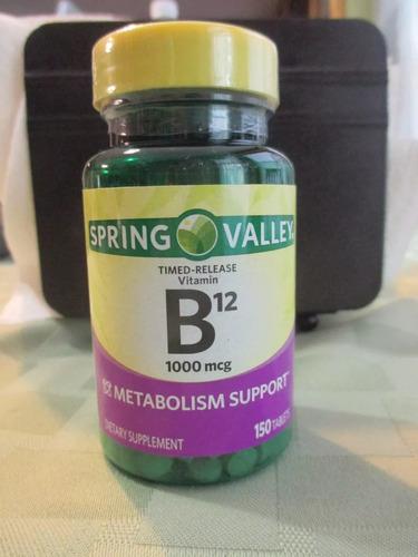 vitamina b12 de 1000 mcg marca sping valley importado de usa