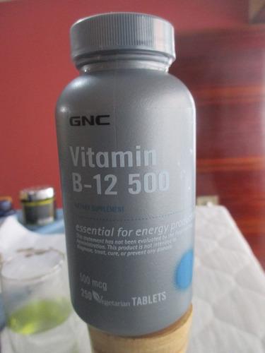 Vitamina B12 De 500 Mcg Marca Gnc - S/. 120,00 en Mercado
