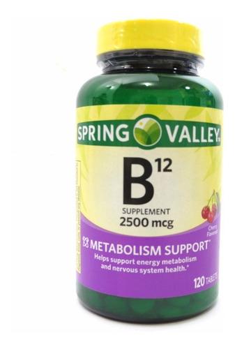 vitamina b12 spring valley sabor cereja 2500mcg 120 tablets