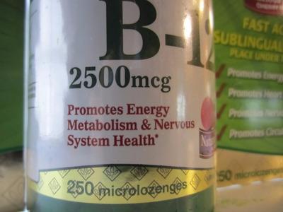 vitamina b12 sublingual de 2500 mcg - marca: natures bounty