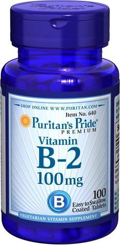 vitamina b2 riboflavina 100 mg puritan´s pride e e u u, 100