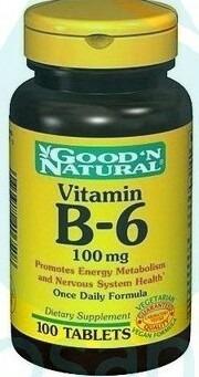 vitamina b6 100 mg * 100 tab good´n natural