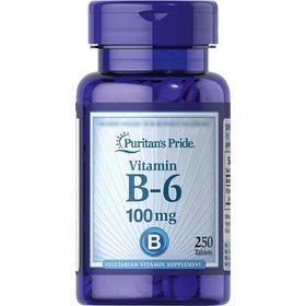 Vitamina B6 De 100 Mg Marca Puritans Pride Importado De Usa