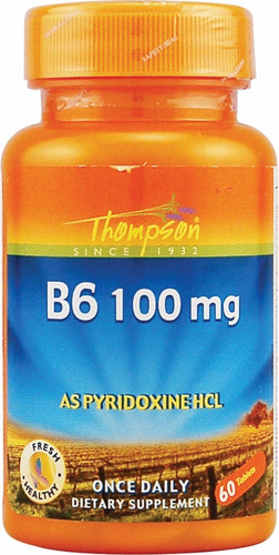 vitamina b6 de thompson 60 tabletas de 100mg