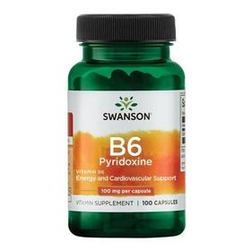 Vitamina B6 Piridoxina 100 Mg 100 Capsulas