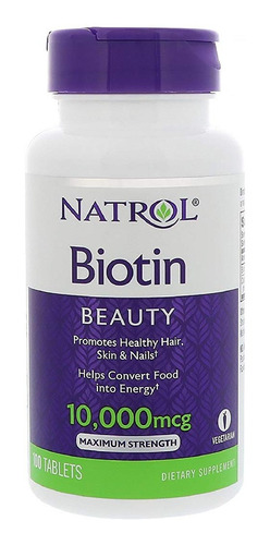 vitamina biotin natrol 10,000 mcg 100 unidades