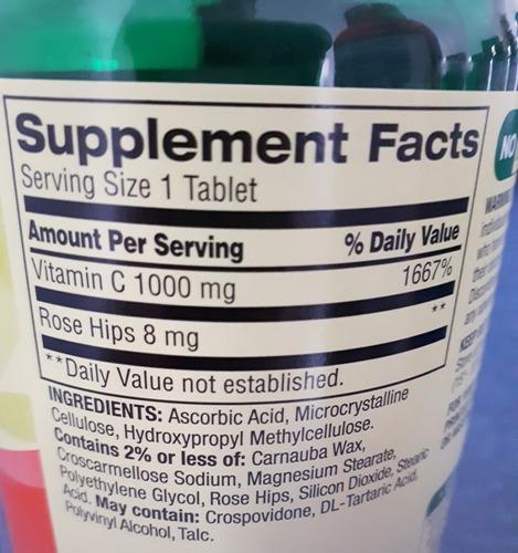 vitamina c 1000 mg 250 tabletas spring valley americana