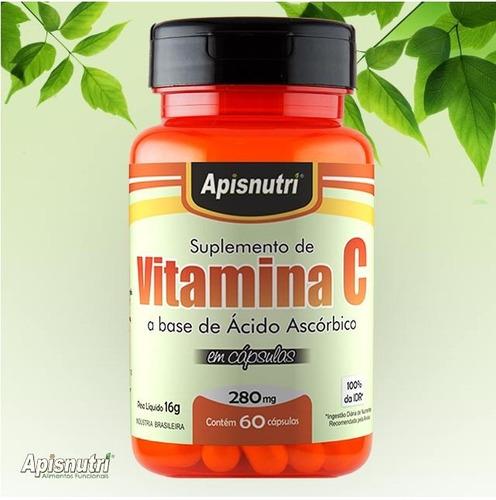 vitamina c 120 capsulas 280mg  apisnutri o melhor do mercado