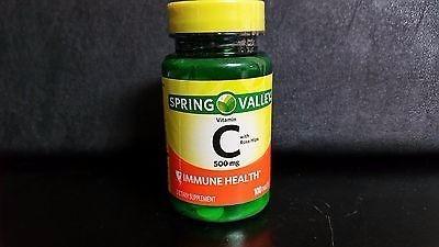 vitamina c 500mg spring valley 100 cápsulas entrega rápida