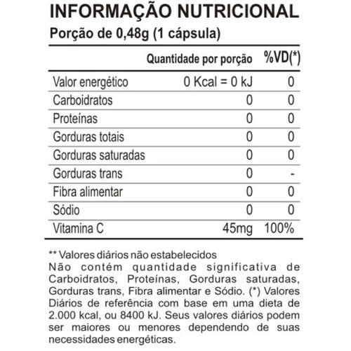vitamina c 60 cápsulas maxinutri # revestida
