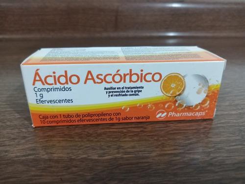 vitamina c (ácido ascórbico) efervescente con sabor naranja