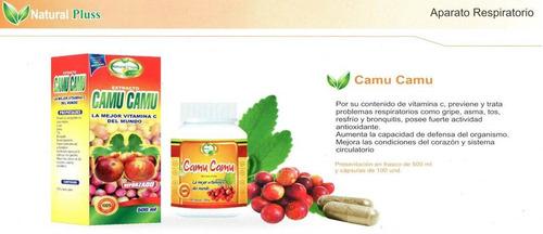 vitamina c camu camu natural plus cap x 100 ext x 500ml