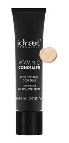 vitamina c concealer corrector hd alta cobertura idraet