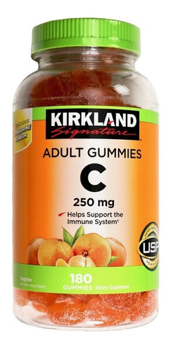 vitamina c gomas para adultos de 250 mgs, 180 gomas