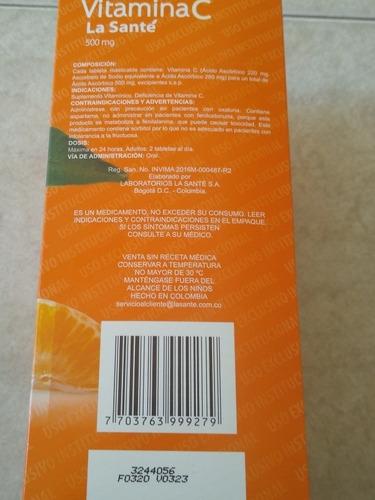 vitamina c la santé x 200unidades 500mg