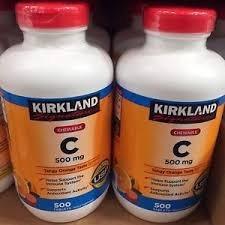 vitamina c masticable 500 mg 500 tabletas kirkland