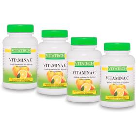 Vitamina C Vitatech X 4 Frascos Con 30 Comprimidos En C/u