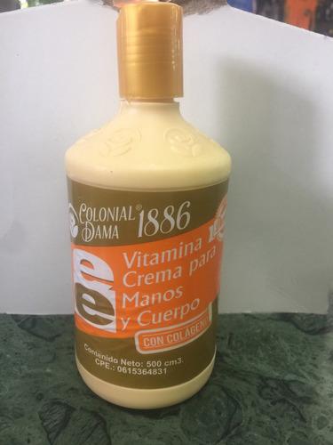 vitamina crema para manos y cuerpo con colágeno y vitamina e