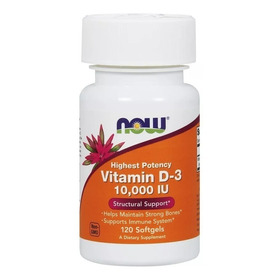 Vitamina D3 10000 Ui 120 Cap Softgels (importada) - Now