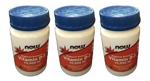 vitamina d3 10000 ui - 360 softgels importada eua - promoção