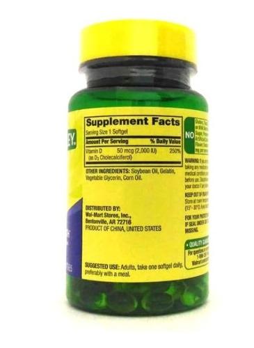 vitamina d3 2000iu spring valley 200 cápsulas entrega rápida