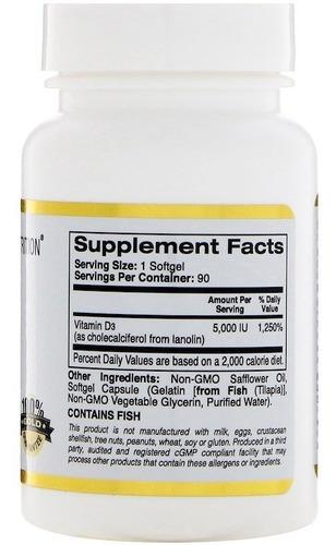 vitamina d3 5000 ui, importada eua - 90 caps oleosas