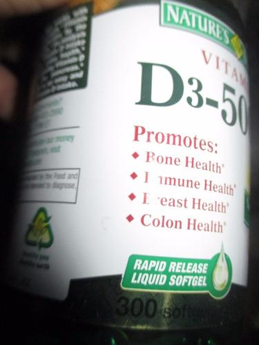 vitamina d3 de 5000 ui marca nature's bounty importado de us
