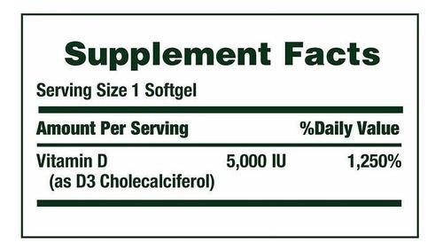vitamina d3 natures bounty 400 cap blandas 5.000