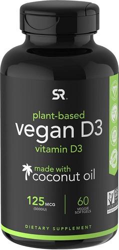 vitamina d3 vegana 5000iu mejorada con aceite de organico