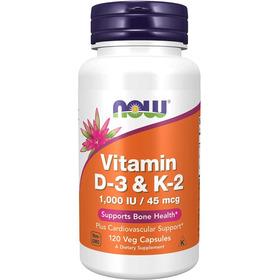 Vitamina D3 Y K2 - 120 Cápsulas Vegetarianas