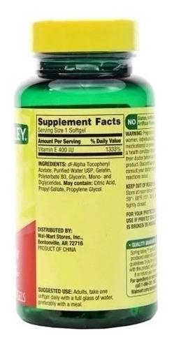 vitamina e 400 iu 100 capsulas spring valley