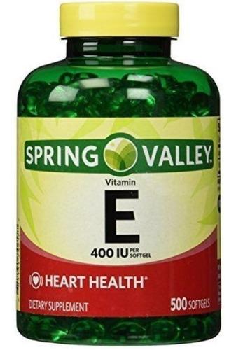 vitamina e 400 iu 500 capsulas spring valley