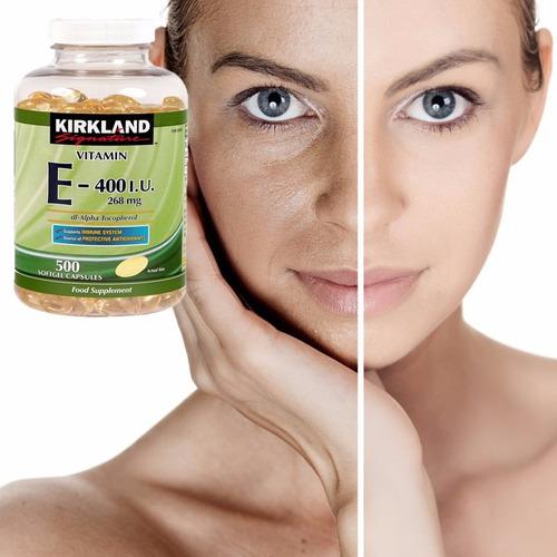 vitamina e americana  kirkland 400 i.u. 500 capsulas.