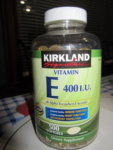 vitamina e de 400 ui marca kirkland contiene 500 unidades