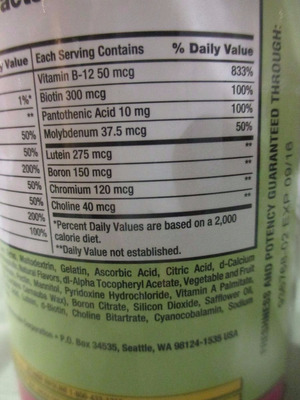 vitamina en gomitas para adultos - marca kirkland