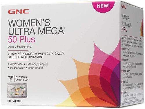 vitamina gnc womens ultra mega 50 plus vitapak  - 30 sobres