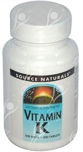 vitamina k  500mg -filoquinona  200 pastillas americano .