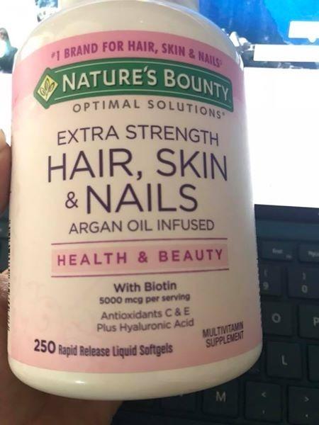 Vitamina Para Unas Piel Y Cabello Marca Naturas Bounty Usa