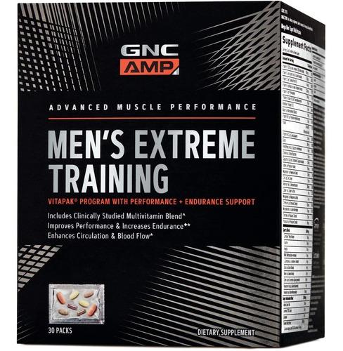 vitaminas gnc amp extreme training vitapak 30 paquetes