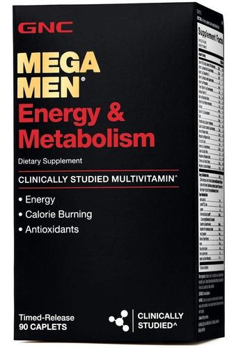vitaminas gnc mega men energía y metabolismo - 90 capsulas