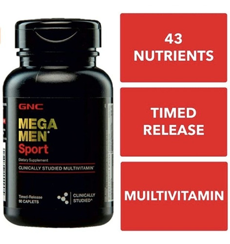 vitaminas gnc mega men sport - 180 capsulas
