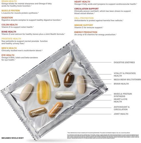 vitaminas gnc mega men whole body vitapak programa,