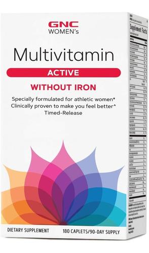 vitaminas gnc womens ultra mega active sin hierro - 180 cap