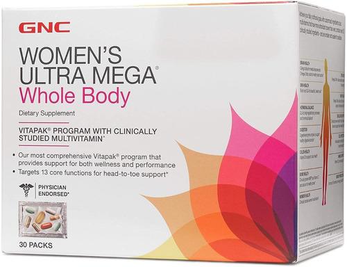 vitaminas gnc  womens ultra mega whole body   - 30 sobres