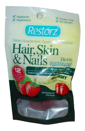 vitaminas gomitas 12u retorz adulto piel uñas cabello regalo