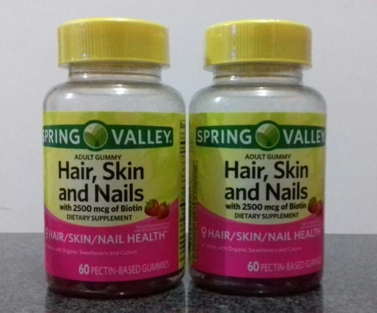 Vitaminas Para Cabello, Uñas Y Piel. Spring Valley, Mujer. - S/ 57 ...