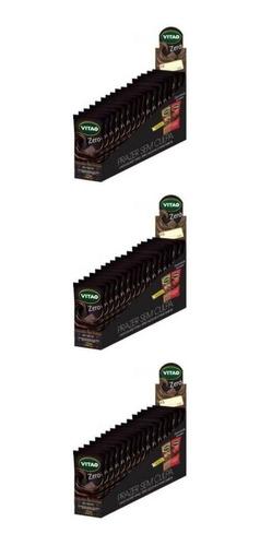 vitao chocolate zero meio amargo 24x22g (kit c/03)