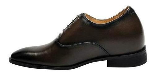 vito cafe oscuro 7cm mas alto, zapato formal hombre
