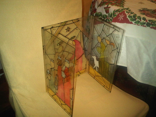 vitral decorativo navidad