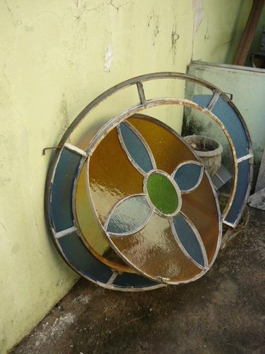 vitral redondo basculante antigo ferro - cod.26/7/17